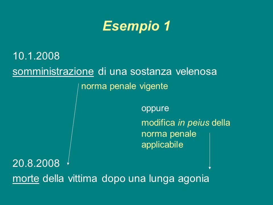 Esempio 1 10.1.2008 somministrazione di una sostanza velenosa