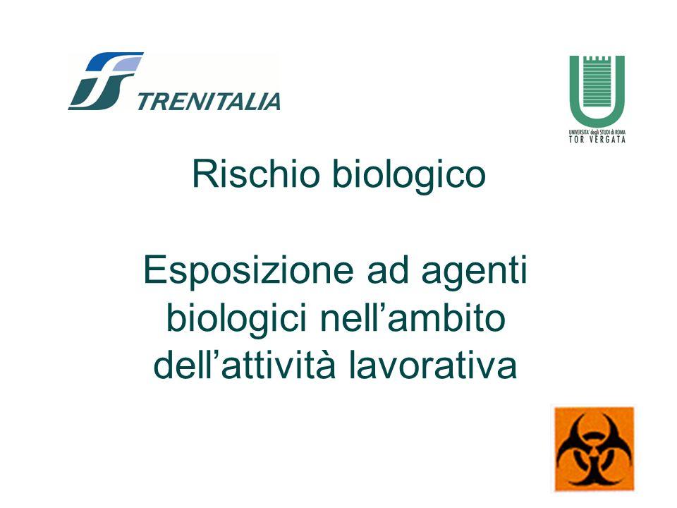 Esposizione ad agenti biologici nell'ambito dell'attività lavorativa