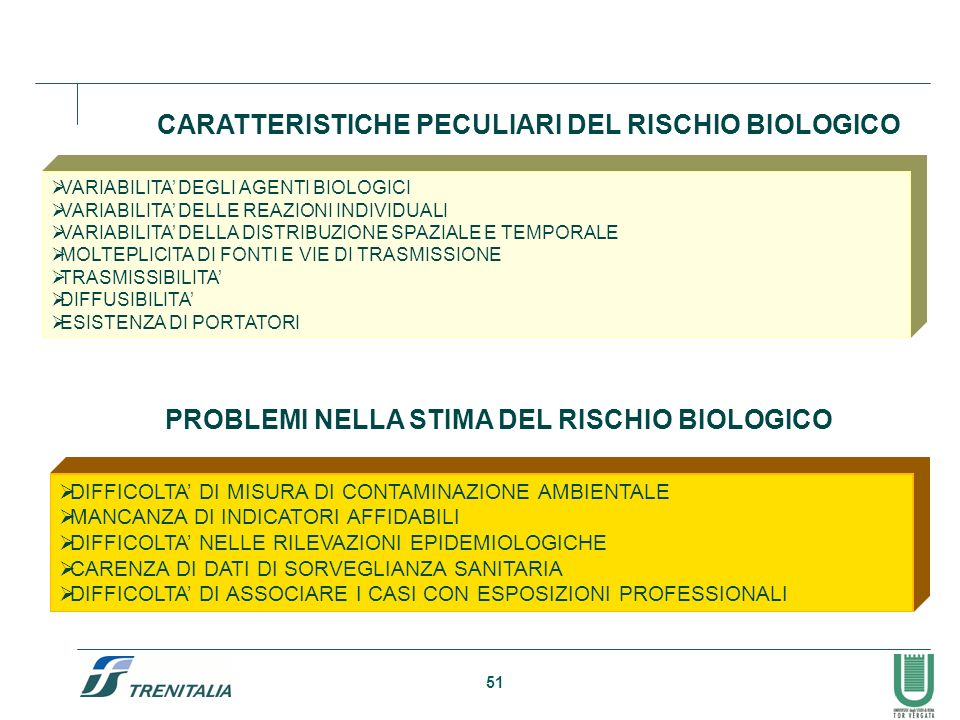PROBLEMI NELLA STIMA DEL RISCHIO BIOLOGICO