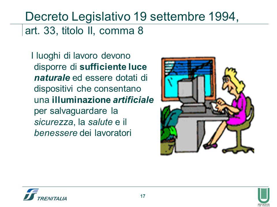 Decreto Legislativo 19 settembre 1994, art. 33, titolo II, comma 8