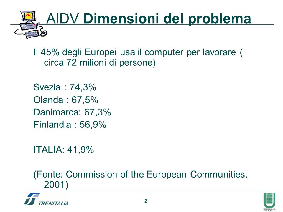 AIDV Dimensioni del problema
