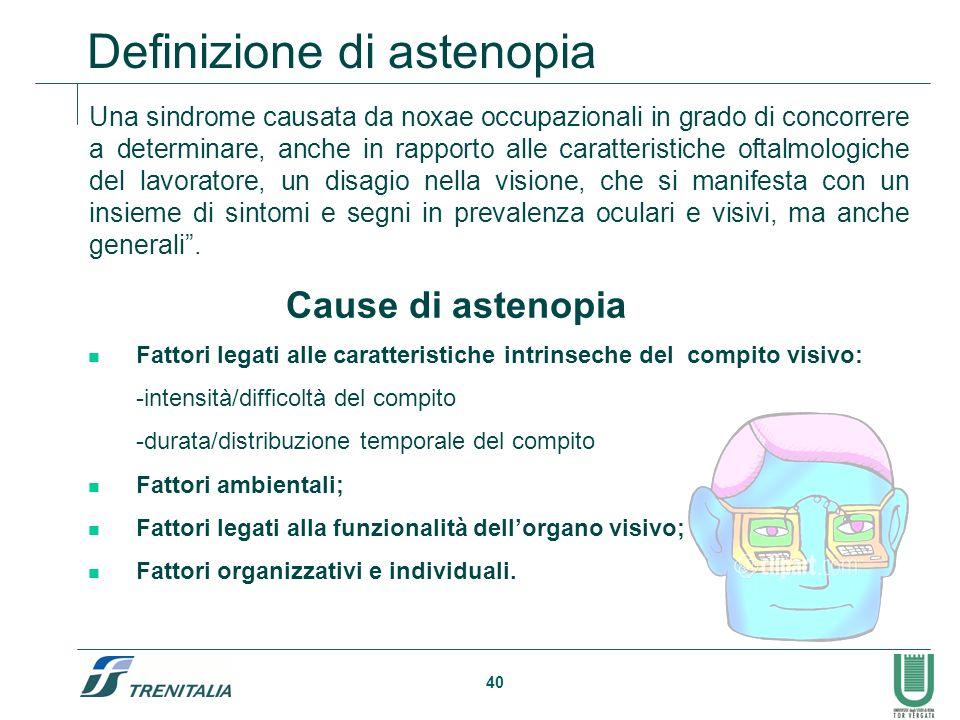 Definizione di astenopia