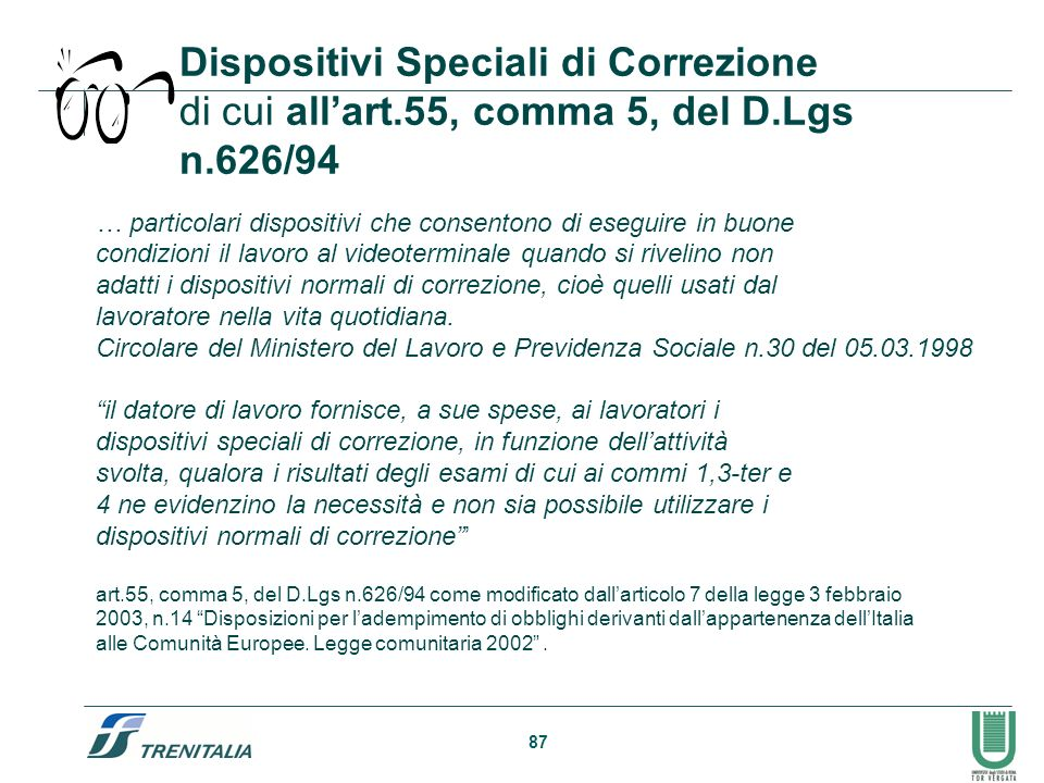 Dispositivi Speciali di Correzione di cui all'art. 55, comma 5, del D