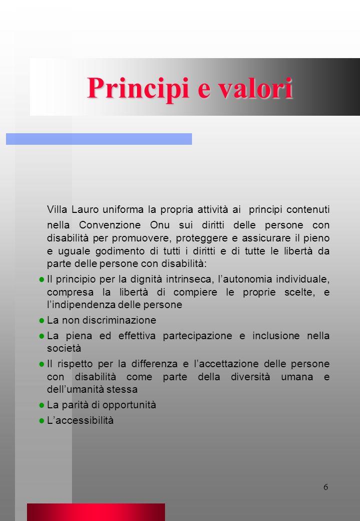 Principi e valori