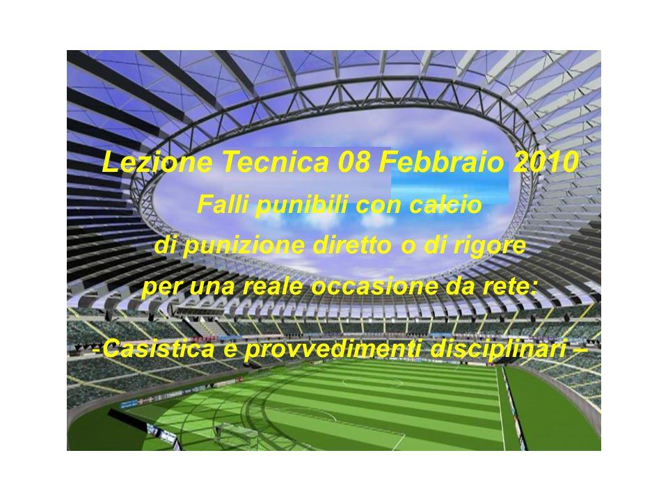 Lezione Tecnica 08 Febbraio 2010
