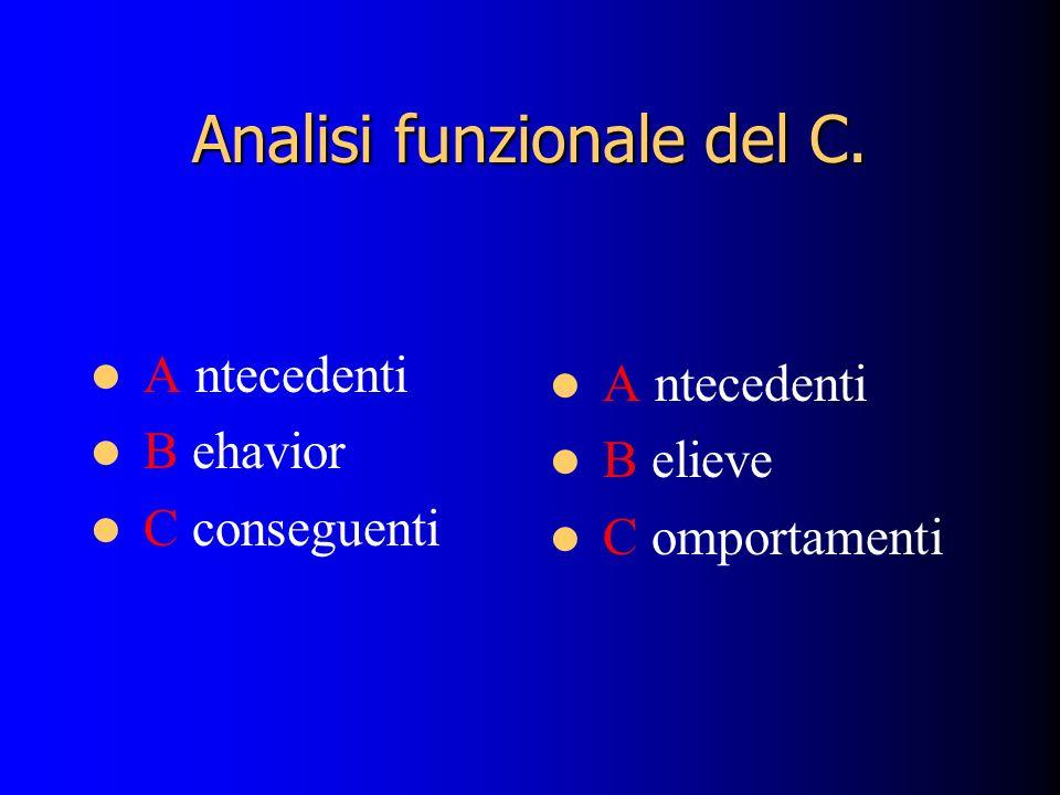 Analisi funzionale del C.