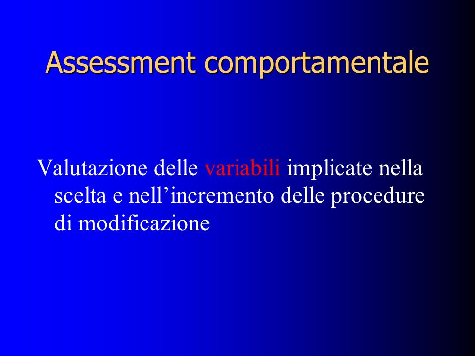 Assessment comportamentale