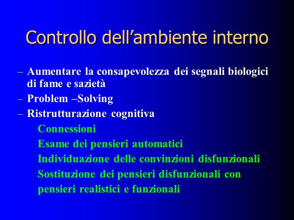 Controllo dell'ambiente interno