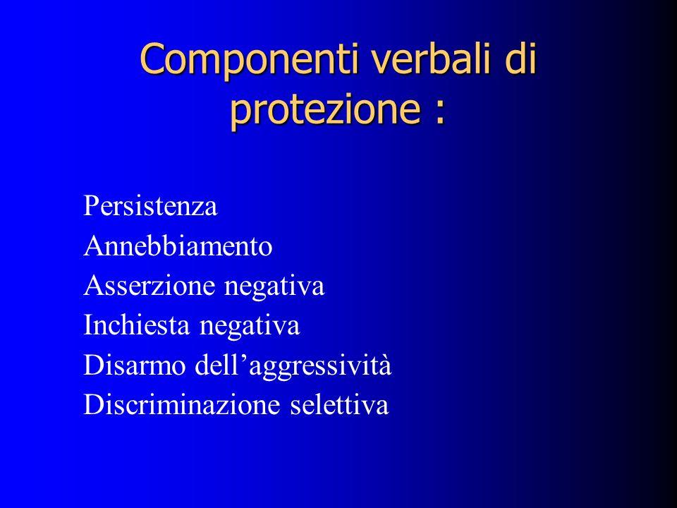 Componenti verbali di protezione :