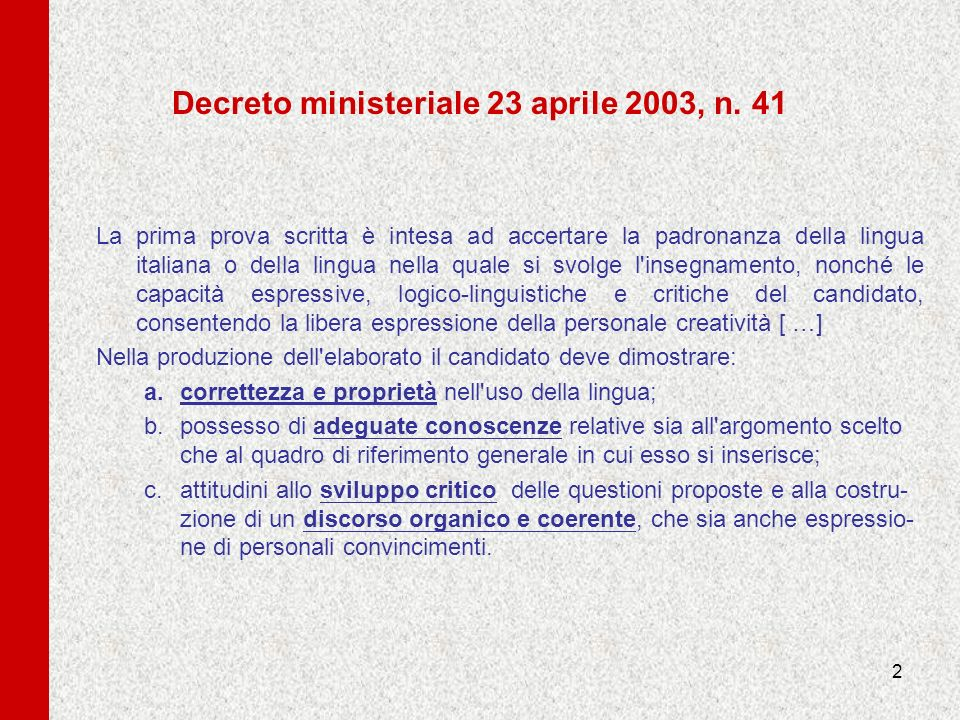 Decreto ministeriale 23 aprile 2003, n. 41