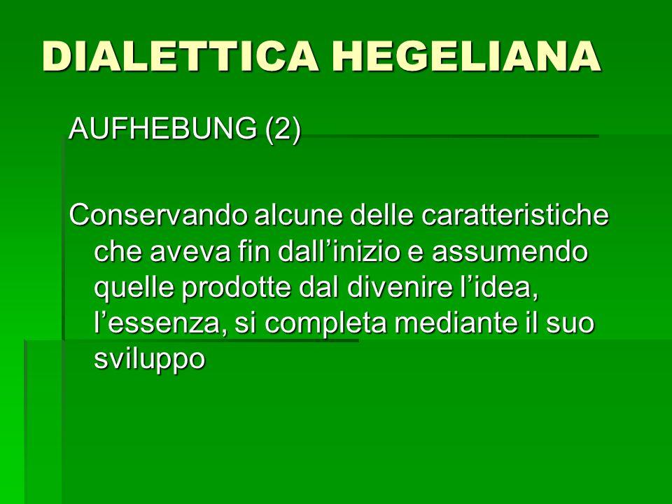 DIALETTICA HEGELIANA AUFHEBUNG (2)