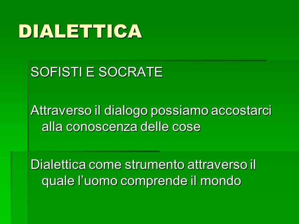 DIALETTICA SOFISTI E SOCRATE