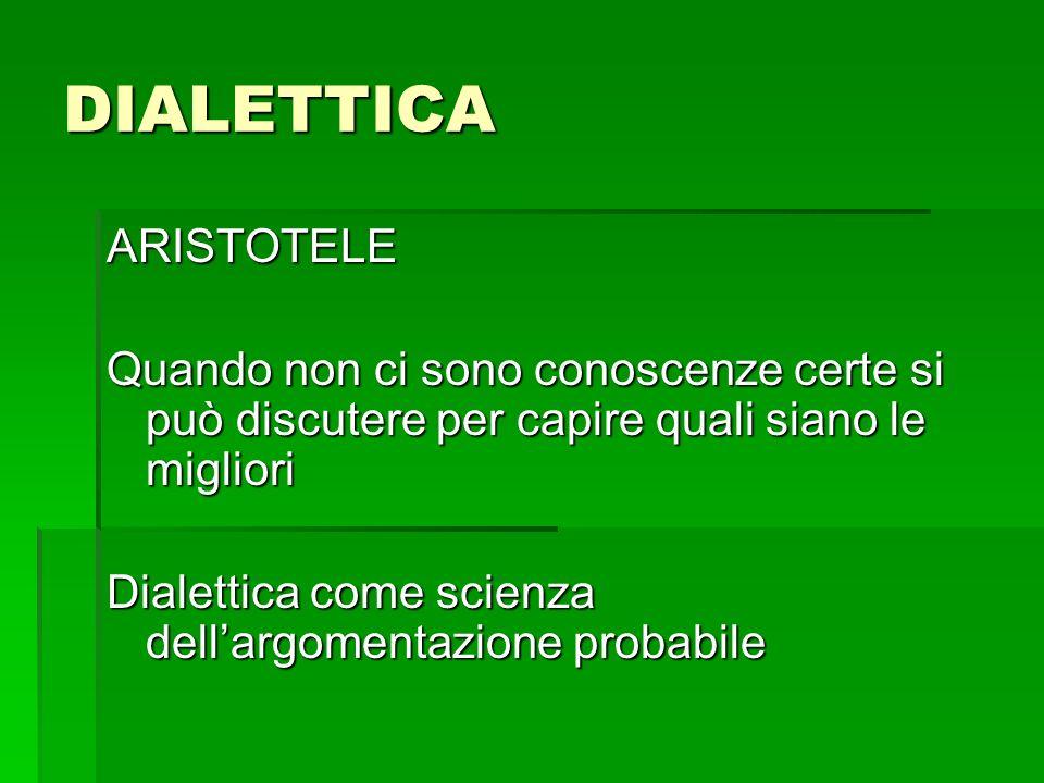 DIALETTICA ARISTOTELE