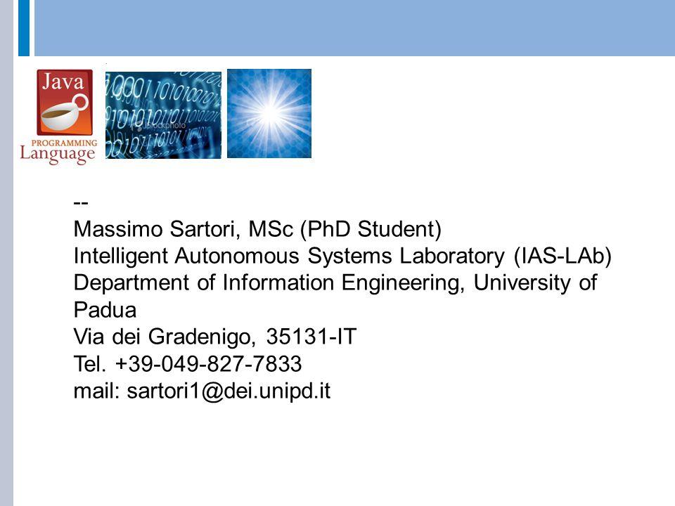 Massimo Sartori, MSc (PhD Student)