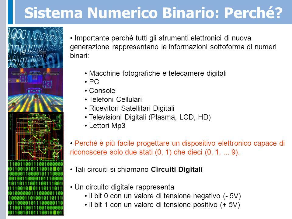 Sistema Numerico Binario: Perché
