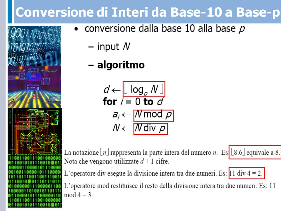 Conversione di Interi da Base-10 a Base-p