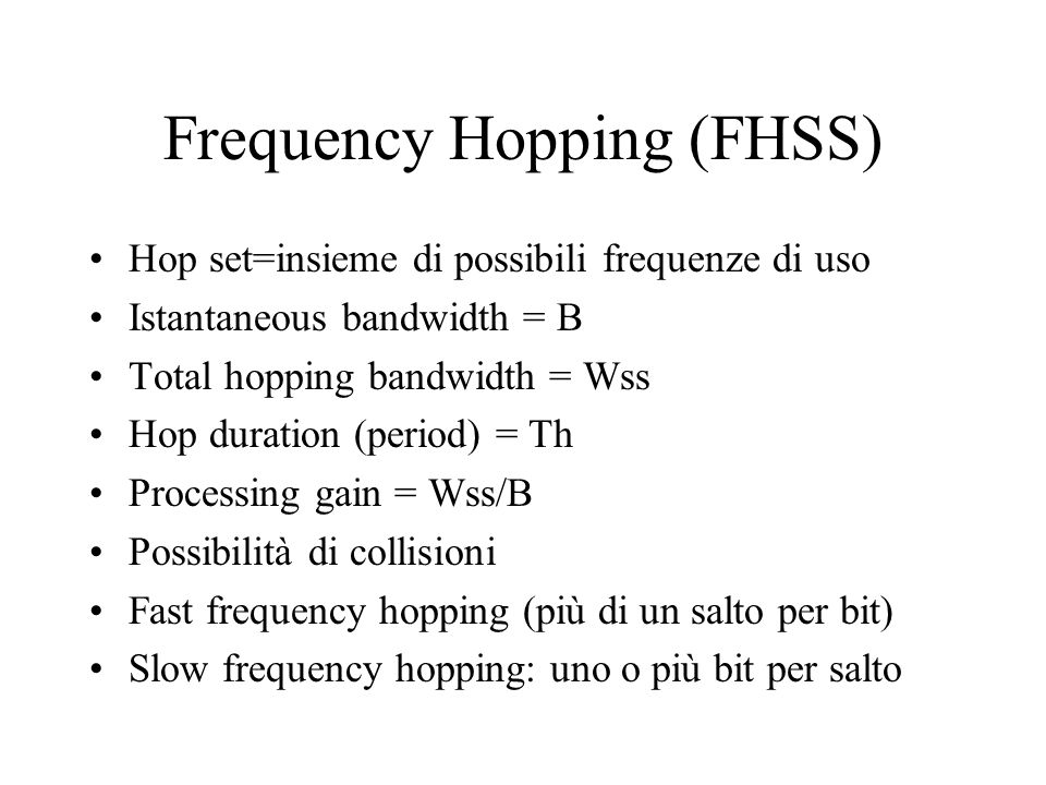 Frequency Hopping (FHSS)