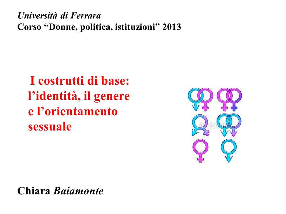 Università di Ferrara Corso Donne, politica, istituzioni 2013