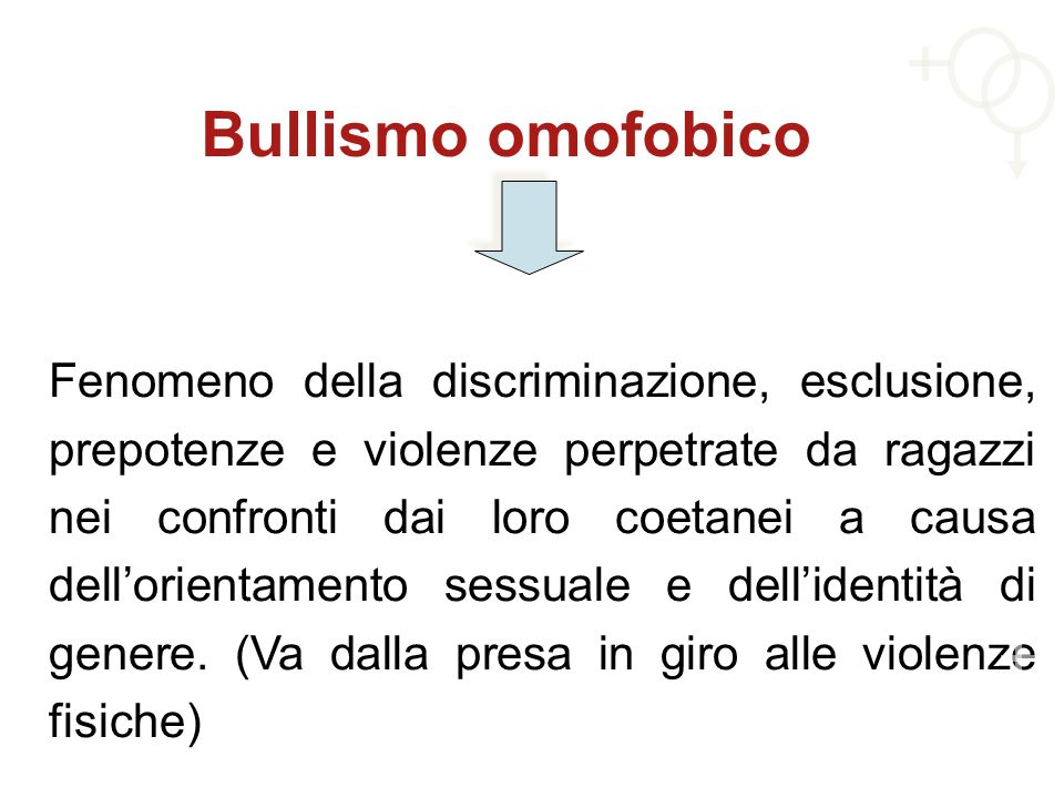 Bullismo omofobico
