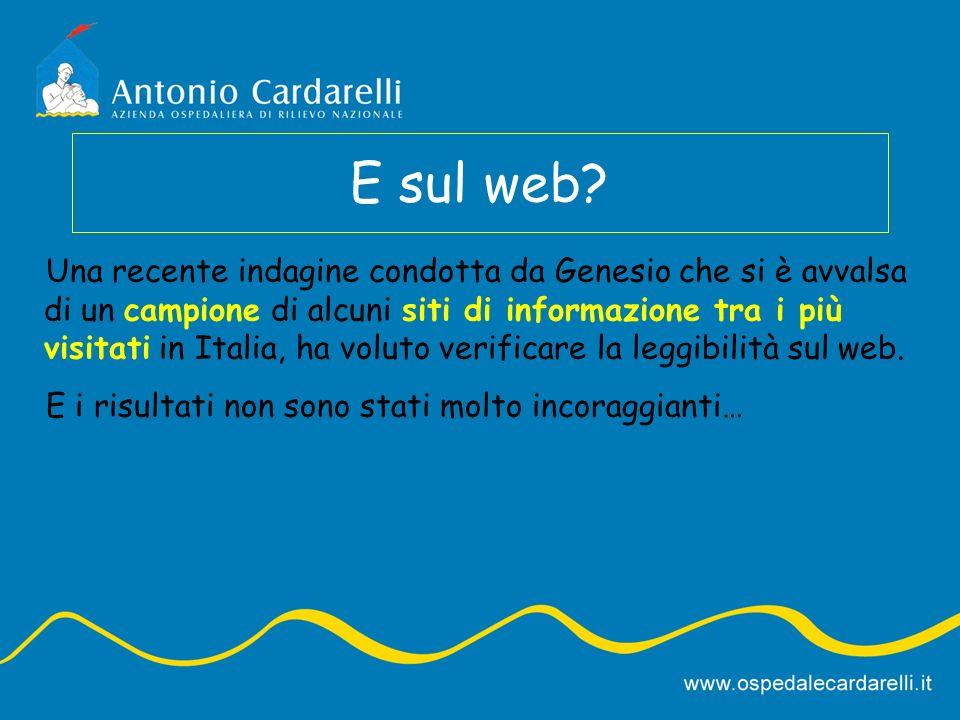E sul web