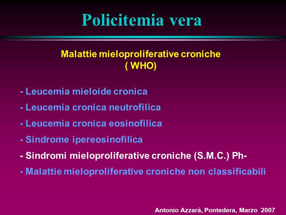 Malattie mieloproliferative croniche