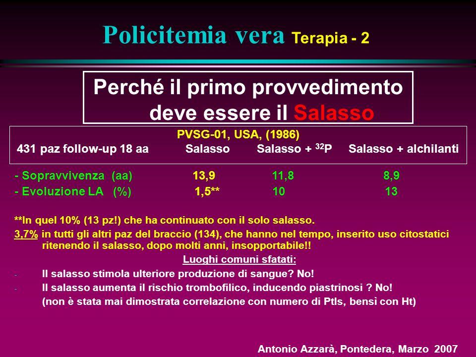 Policitemia vera Terapia - 2