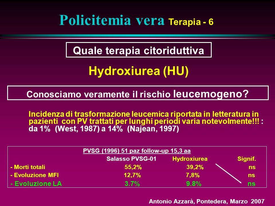 Policitemia vera Terapia - 6