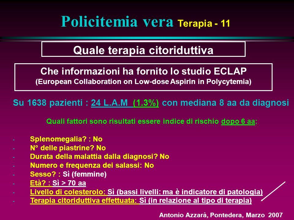 Policitemia vera Terapia - 11