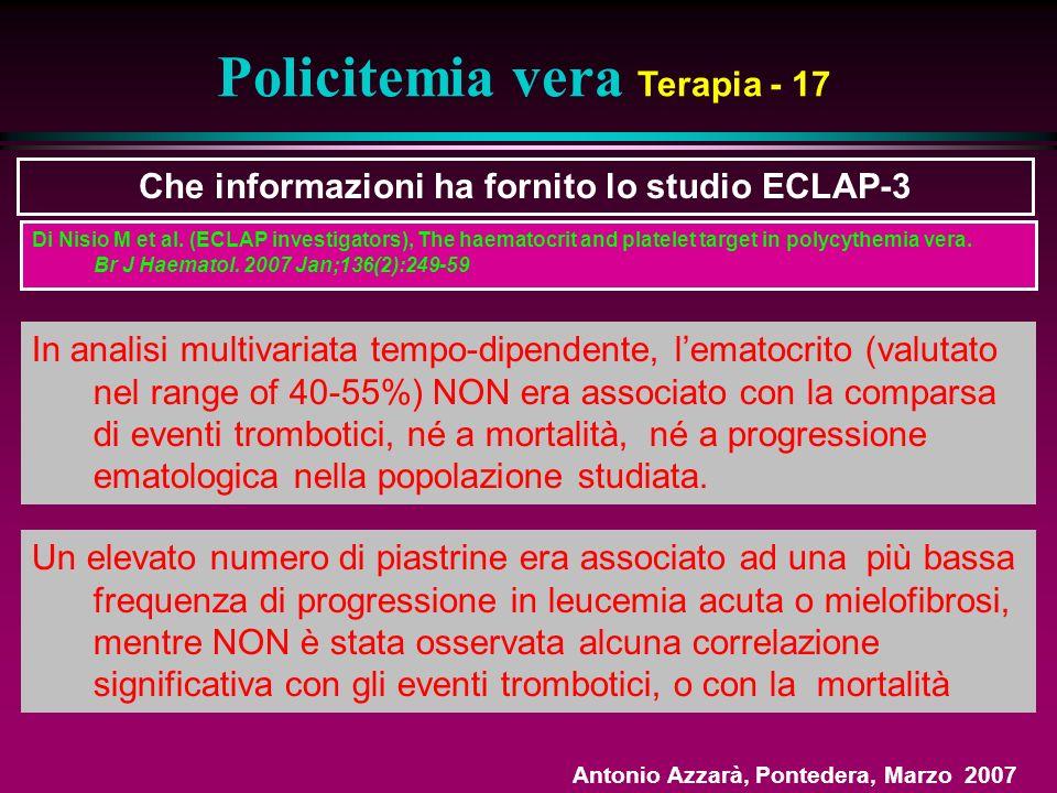 Policitemia vera Terapia - 17