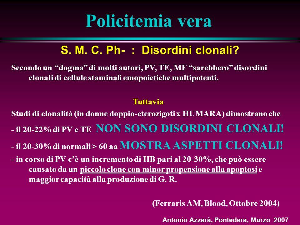 S. M. C. Ph- : Disordini clonali