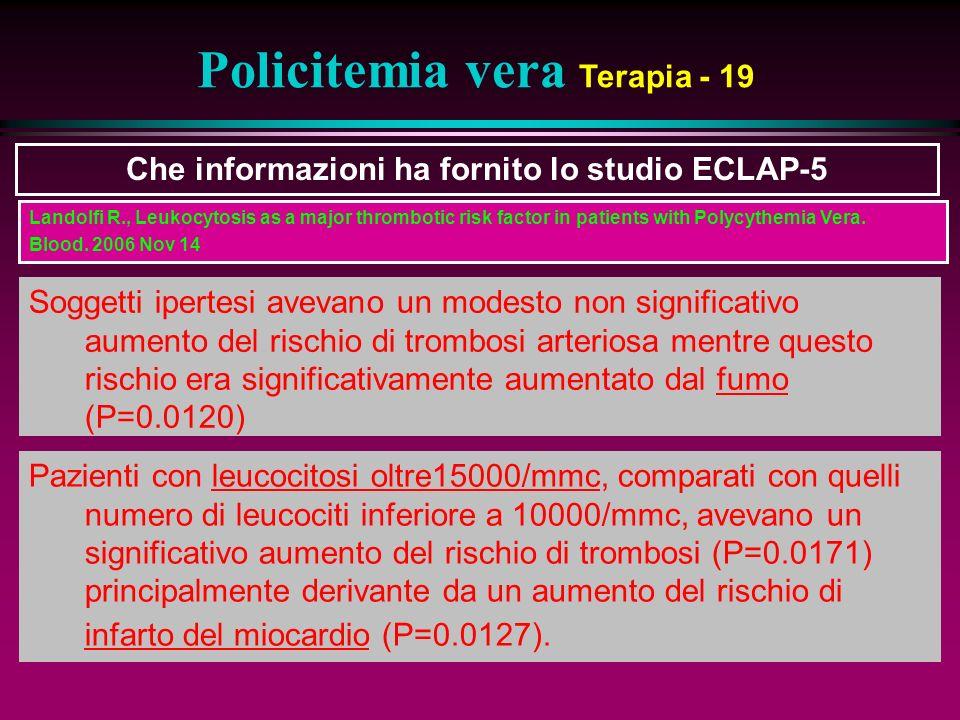Policitemia vera Terapia - 19