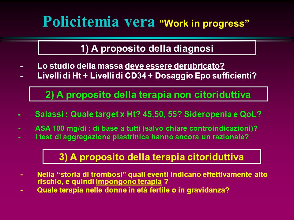 Policitemia vera Work in progress