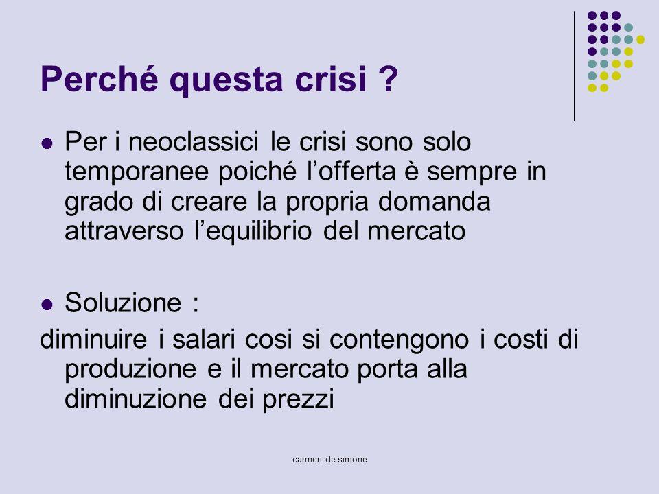 Perché questa crisi