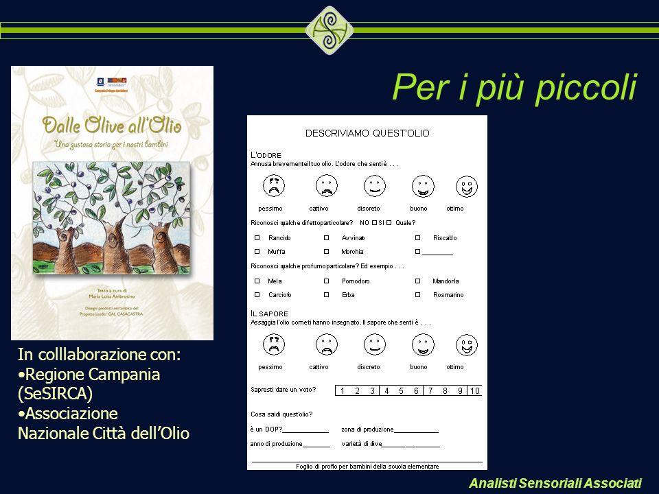 Per i più piccoli In colllaborazione con: Regione Campania (SeSIRCA)