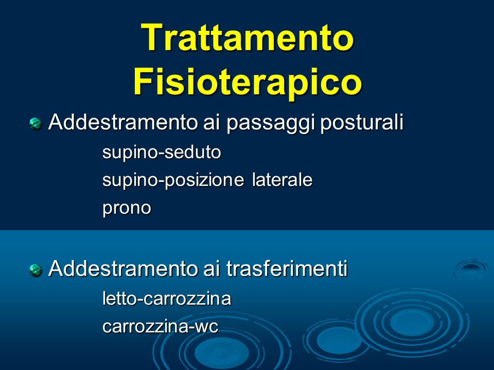 Trattamento Fisioterapico