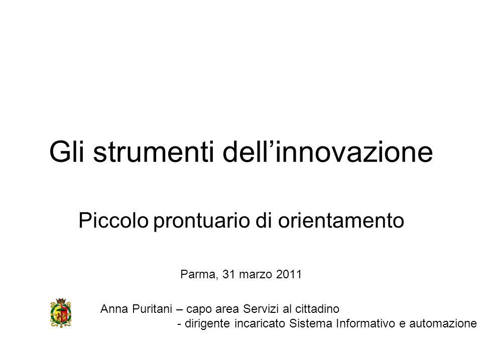 Gli strumenti dell'innovazione