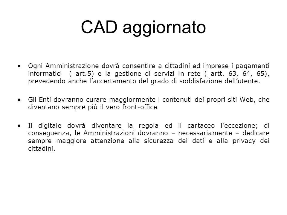 CAD aggiornato