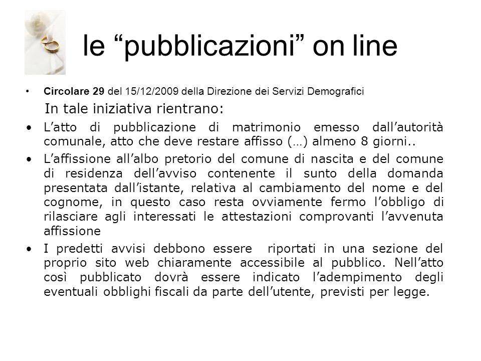 le pubblicazioni on line