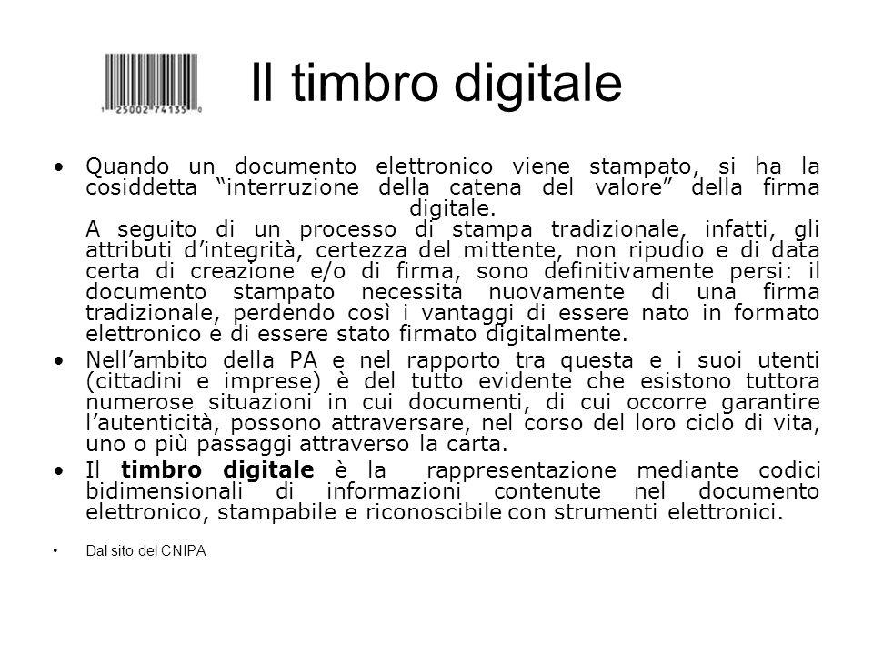 Il timbro digitale