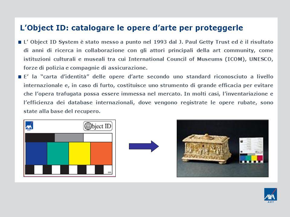 L'Object ID: catalogare le opere d'arte per proteggerle