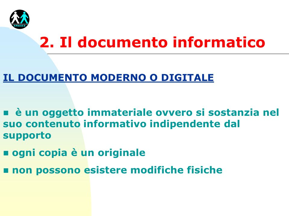 2. Il documento informatico