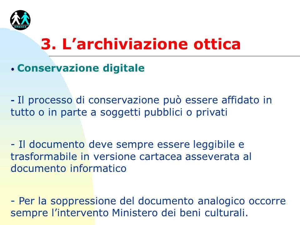 3. L'archiviazione ottica
