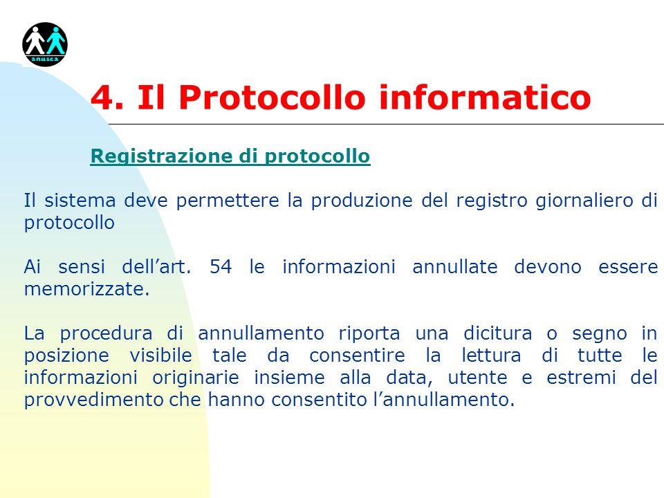 4. Il Protocollo informatico
