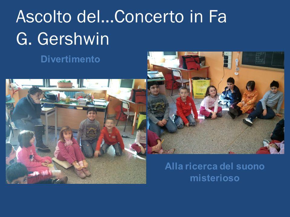 Ascolto del…Concerto in Fa G. Gershwin