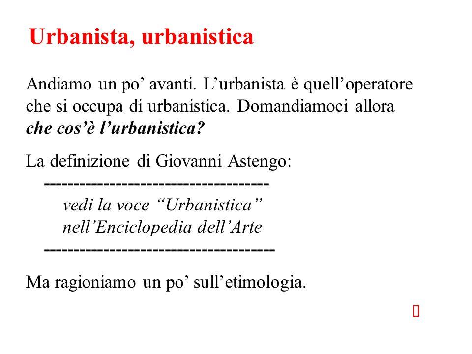 Urbanista, urbanistica