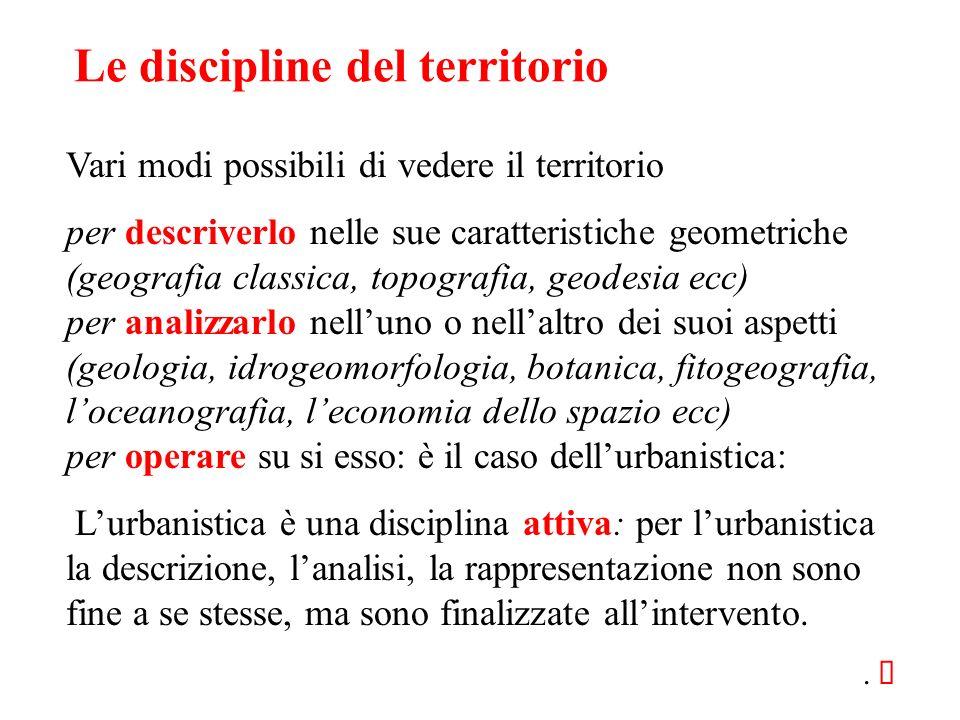 Le discipline del territorio