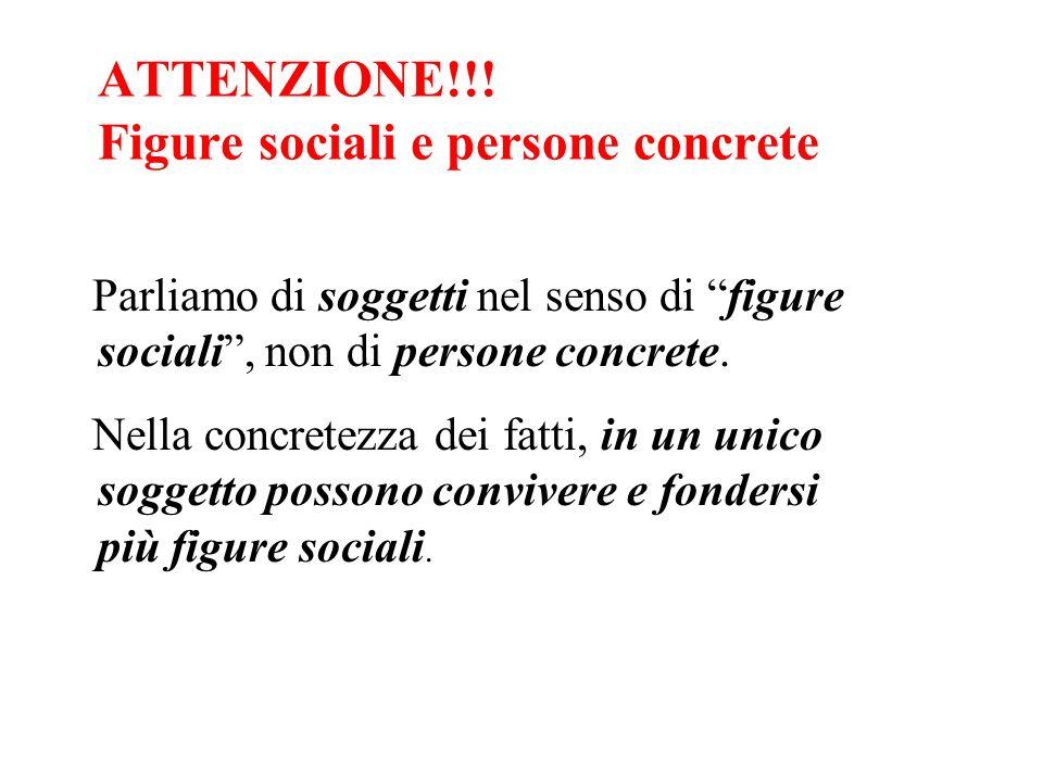 ATTENZIONE!!! Figure sociali e persone concrete