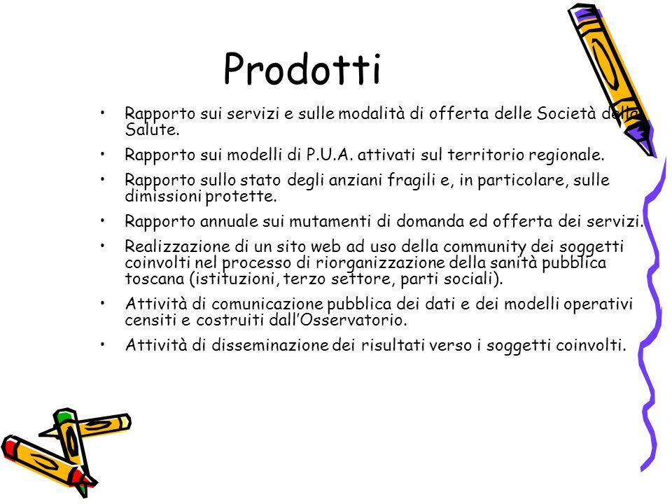 ProdottiRapporto sui servizi e sulle modalità di offerta delle Società della Salute.