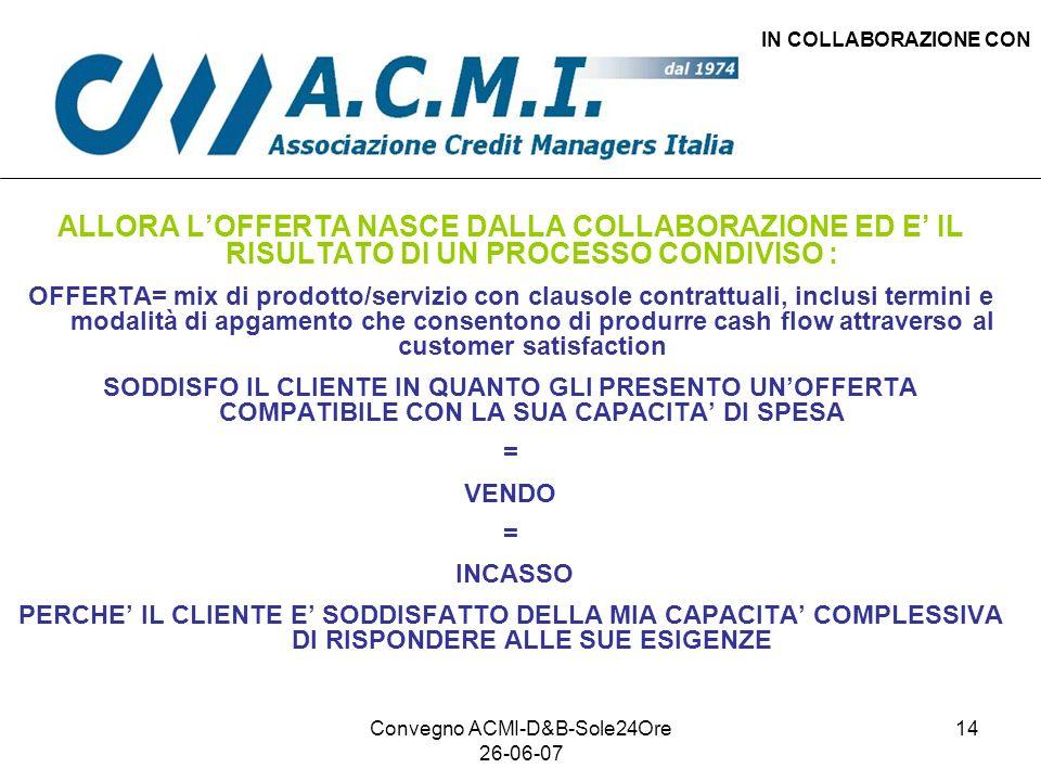 Convegno ACMI-D&B-Sole24Ore 26-06-07