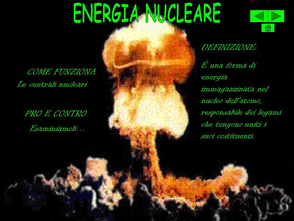 ENERGIA NUCLEARE DEFINIZIONE: